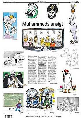 TRYKKET SATIRE: Jyllands-Posten trykket 12 tegninger av profeten i fjor h�st. Siden har striden rast.