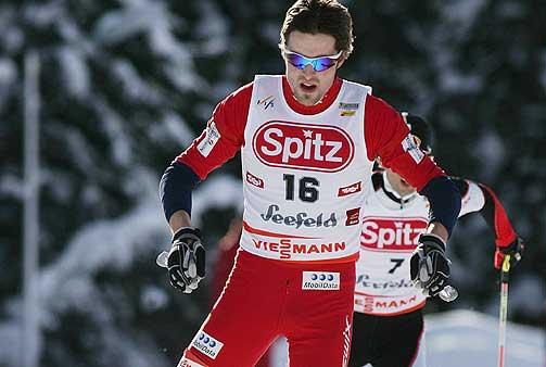 GOD I SPORET: Magnus Moan gikk seg opp fra 18. til 5.plass i dagens kombinertrenn i østerrikske Seefeld.