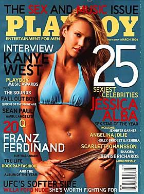TILSYNELATENDE: Jessica ble k�ret til den mest sexy kjendisen og f�r dermed pryde forsida p� bladet. Men har hun faktisk stilt opp for Playboy?