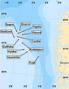 kart oljeplattformer Ekofisk kart | Bygging av bjelker kart oljeplattformer