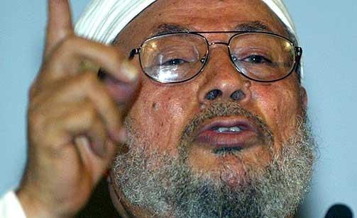 GODTAR SELBEKKS UNNSKYLDNING: Den islamske teologen Yusuf al-Qaradawi, if�lge den norske delegasjonen som m�tte ham.