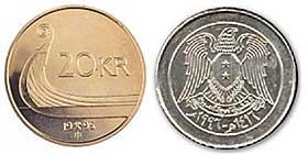 LIKNER IKKE: Det er lett å se forskjell på myntene, men automatene klarer ikke skjelne mellom dem.