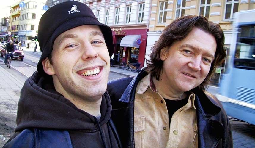 GRANDIS-KAMERATENE: Lars Kilevold og artisten D'Lay har laget �Respekt til Grandiosa�, en l�t som er lastet ned 300 000 ganger.