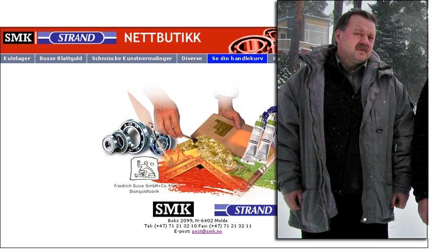 BAK LURER FRP: Domenenavnet www.smk.no er registrert på Allan Eirik Strand, lokalpolitiker for FrP. Han har trolig mottatt e-post beregnet for statsministeren tidligere.