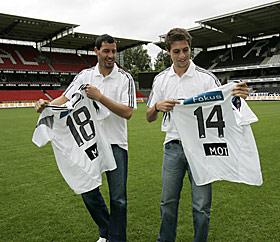 ROSENBORG: De tidligere RBK-erne Sebastián Eguren og Alejandro Lago på Lerkendal Stadion. Neste vinter kommer det kanskje tak over banen.