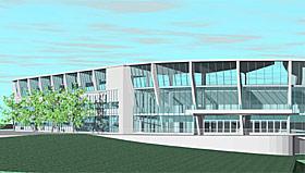 BRANN: Slik blir fasaden på nye Brann Stadion.
