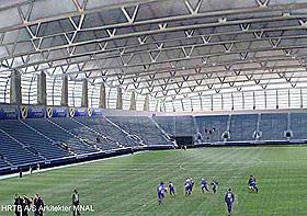 STABÆK: På Fornebu Arena skal et tak som kan dras over banen.