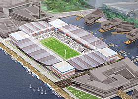 VÅLERENGA: Ett av forlagene til ny Vålerenga-stadion er dette, i Bjørvika.