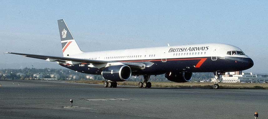 BOEING 757: Dette er en av flytypene som er spesielt utsatt for avgass i kabinlufta, og som professor Chris van Netten har foretatt prøver på.