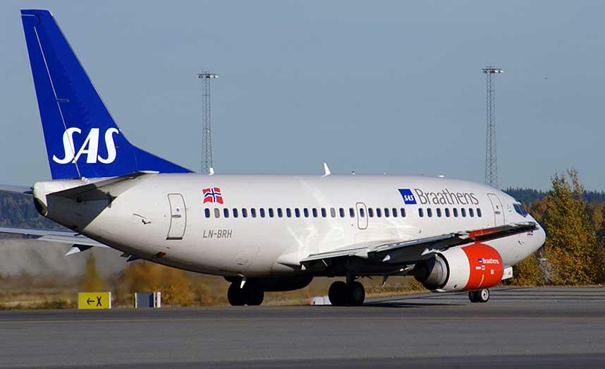 BOEING 737: Denne flytypen er en av mange som har hatt hendelser med giftig gass i pustelufta.