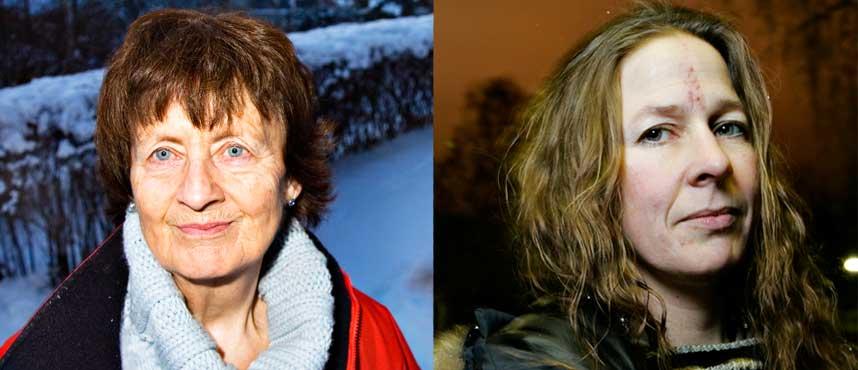 FORMANN: Forfatterforeningens leder Anne Oterholm (til h�yre) mener popul�rforfattere som Frid Ingulstad ikke h�rer hjemme i foreningen. Ingulstad har f�tt to avslag.