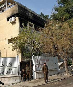 MÅTTE FLYTTE: Den norske ambassaden måtte relokaliseres etter opptøyene i Damaskus.