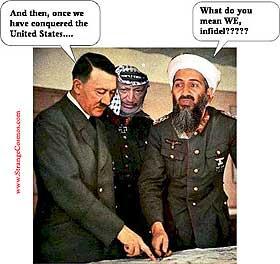 BLIR HITLET: Islamister i sin allmenhet og Oslama bin Laden i særdeleshet.