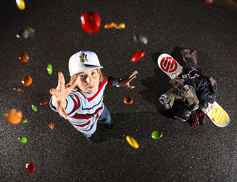 SUPERTALENT: Ståle Sandbech er landets beste 13-åring på snowboard, ifølge selveste Terje Håkonsen. I helgen kjører han med de store gutta under arctic Challenge i Holmekollen.