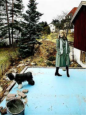 FINT I ØST: Siv Allman og familien fortalte Dagbladet i januar i år at de bygger 460 kvadratmeter murvilla på Grorud. - Et trygt nabolag med masse ressurser, mente tobarnsmoren.