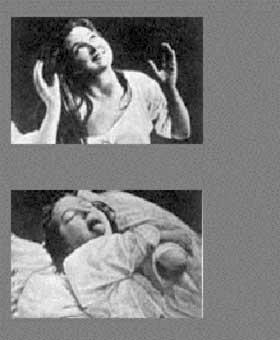 ISCENESATT: - Hvis du ser på bildene, ser du halvt avkledde damer som faller i armene på legene. Pasienten viser på mange måter fram det legen ønsker hun skal vise frem, forklarer Bondevik.