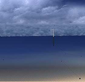 ENSOM: Per i dag finnes det bare ett vindkraftanlegg på dypt vann, utenfor Skottland.