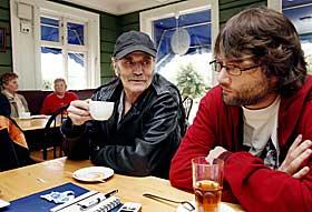 FRED OG EVEN: Even Benestad slo igjennom og fikk Amanda for dokumentaren �Alt om min far� om faren Esben Esther Pirelli Benestad.
