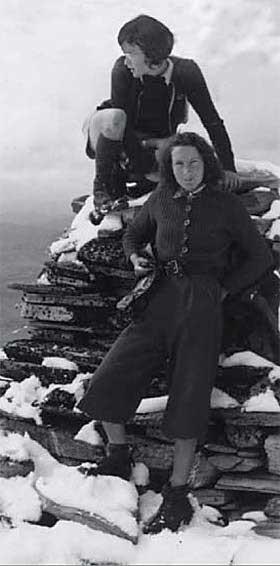 BLE DREPT: «Oppstigning til Storronden» kalte Ruth det som ble den siste siden i hennes fotoalbum, fra en tur til Rondane sammen med søsteren Karen i august 1942. 1. desember samme år ble de drept i Auschwitz.