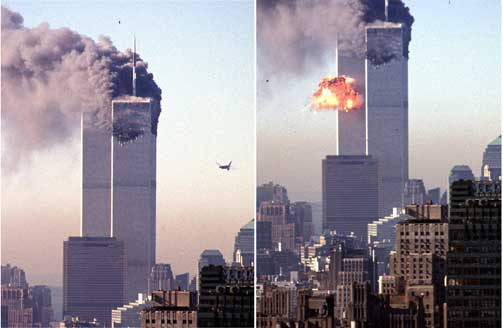 HVEM STO BAK? Terrorangrepet 11. september 2001 er et eksempel p� en virkelig konspirasjon og en hendelse omsvermet av mange konspirasjonsteorier. De fleste er enige at ekstreme islamistister sto bak. Andre mener Bush, j�dene eller Illuminatus trakk i tr�dene.