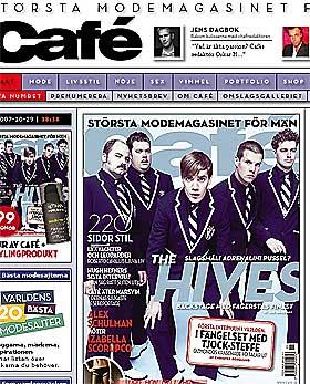 MOTE FOR MENN: Svenske FHM forsøkte seg på et litt mer trendy image, men har steinhard konkurranse i etablerte magasiner som Café.