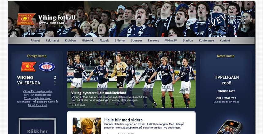 1. PLASS: Viking-FK.no kapret førsteplassen i kåringen av Norges beste fotballhjemmeside.