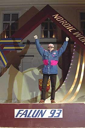 SLO TILBAKE: - Vinteren f�r VM-gullet var Bredesen blitt sist og tredje sist i Albertville-OL, sier Thoresen. Derfor er han spesielt imponert over Espen Bredesens VM-gull i 1993.