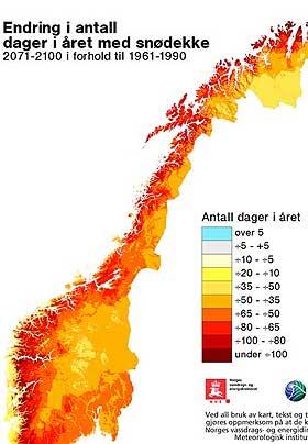 LITE VINTER I FRAMTIDA: Er spådommene rett, og klimapanelet mener det er mer enn 90 prosent sansynlighet for at de stemmer, blir Norge et snøfattig sted i framtida.