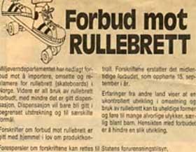 ANNONSERTE FORBUDET: SFT rykket inn annonser i landets aviser for � fortelle om brettforbudet i 1978.
