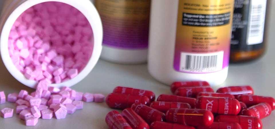 anabolske steroider i proteinpulver