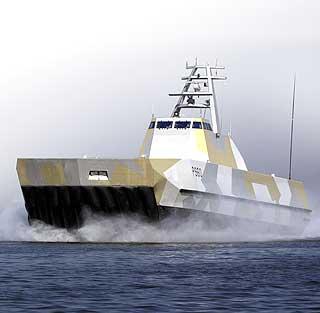 Milliardsluk: Sj�forsvarets nye MTB-er er av Skjold-klassen (her �KNM Skjold�) ble p�tvunget forsvarssjefen - til jubelrop fra flere av medlemmene i Norsk Anchorite Klubb.