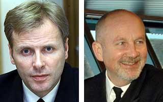 Klubbkamerater: Administrerende direkt�r i PR-firmaet JKL Per H�iby (t.v.) og tidligere avdelingssjef i Forsvarsdepartementet J�rgen Berggrav.