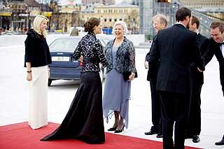 Kronprinsesse Victoria hadde tatt turen til Oslo i anledning opera-�pningen.