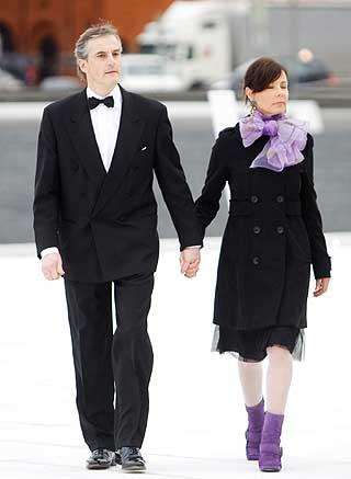 Utenriksminister Jonas Gahr St�re ankom med sin kone, Marit Slagsvold.