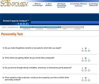 TESTEN: Interesserte må svare på 200 spørsmål.