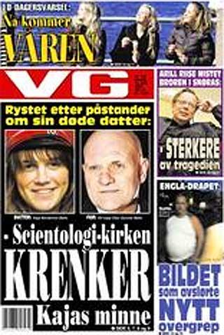 VG: Slik s� forsiden av VG ut i dag.