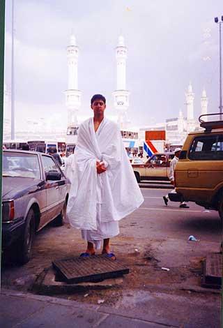 Mot Mekka: Abid Raja p� pilegrimsreise til Mekkai Saudi-Arabia.