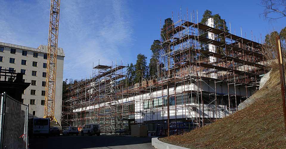 Byggingen av hotellet