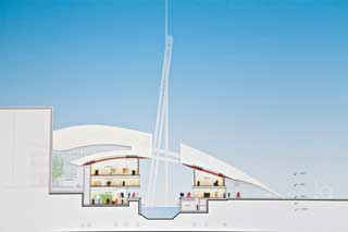90-meteren: Det slanke tårnet på Tjuvholmen vil stige 90 meter til værs.Det vil også ha en heis, som vil gi de besøkende en storslagen utsikt over Oslo.