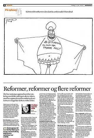 KARIKATUREN: Denne karikaturen av tegneren Jan O. Henriksen trykket Adresseavisen i går.