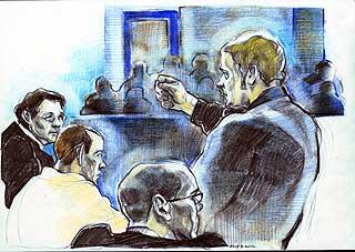 KAN FÅ ARV: Ole Nicolai Kvisler, som her forklarer seg under rettssaken etter Benjamin-drapet.