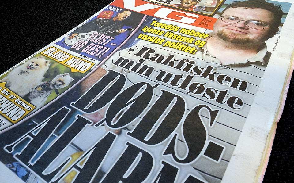 BARE TULL: Torodd Fuglesteg fortalte VG at han fikk politiet på døra da han skulle lage rakfisk til middag. Dessverre for VG var historien rent oppspinn.