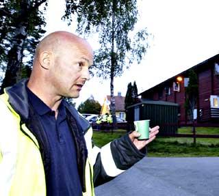 FORSTERKER: Mottaksleder Ole Morten Lyng vil nå forsterke vaktholdet ved Nordbybråten ytterligere.