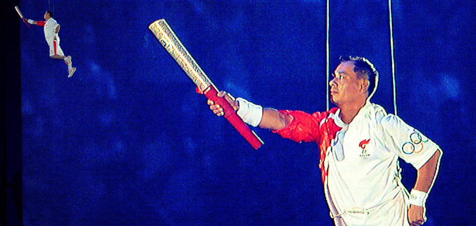 FIKK TENNE ILDEN Li Nieng fikk tenne den olympiske ilden.