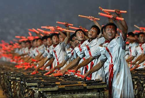 VELREGISSERT: I løpet av den tre timer lange åpningsseremonien vil rundt 15.000 artister vise fram et mangfold av kinesisk kultur.