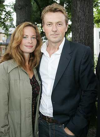 KJÆRESTER I HØSTSOL: Fredrik Skavlan og Maria Bonnevie.