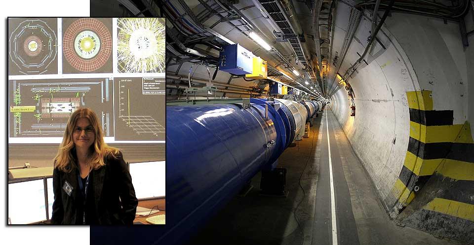 SPENT: Forsker Heidi Sandaker sitter i LHCs kontrollrom og svarer p� dine sp�rsm�l om eksperimentene som har startet.