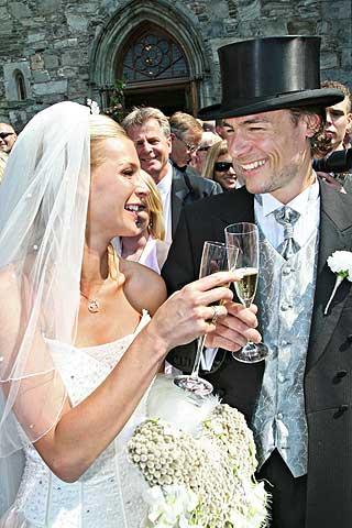 GIFT: Katrhine og Andreas giftet seg i 2006.