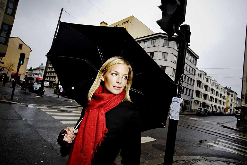 MAMMA SØRLAND: Kathrine Sørland er klar for bleieskift.