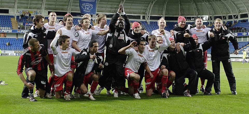 SØLVVINNER TIPPELIGAEN 2008: Fredrikstad Fotballklubb.